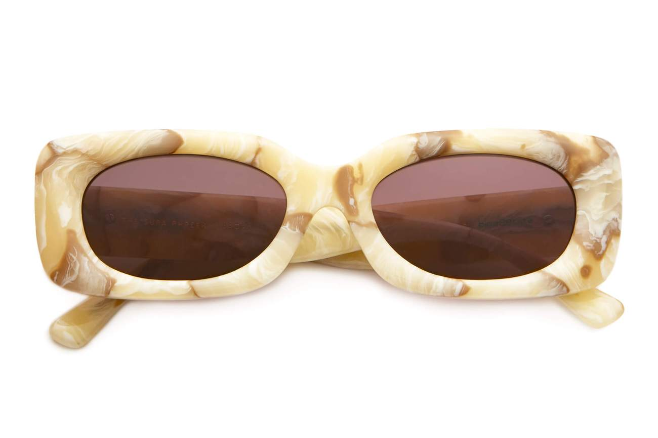 THE SUPA PHREEK / CREAM MARBLE BIO & PLUM LENS