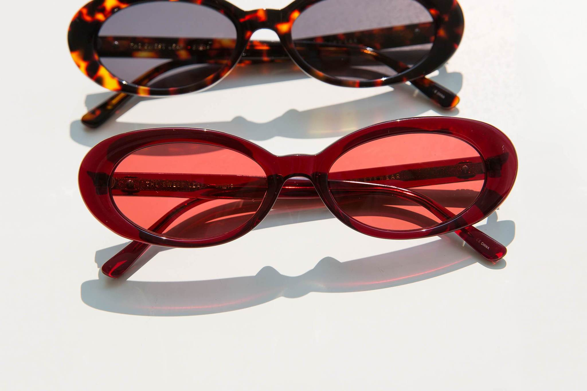 THE SWEET LEAF / CRYSTAL BURGUNDY BIO & ROSE LENS