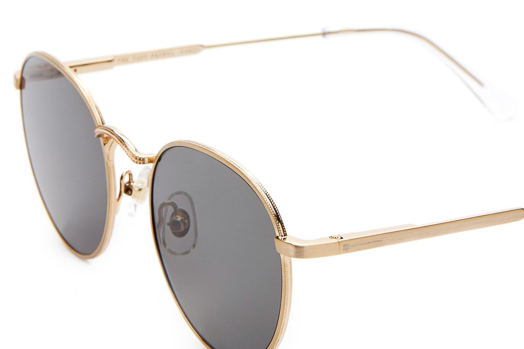 THE TUFF PATROL / BRUSHED GOLD & GREY POLARISED LENS