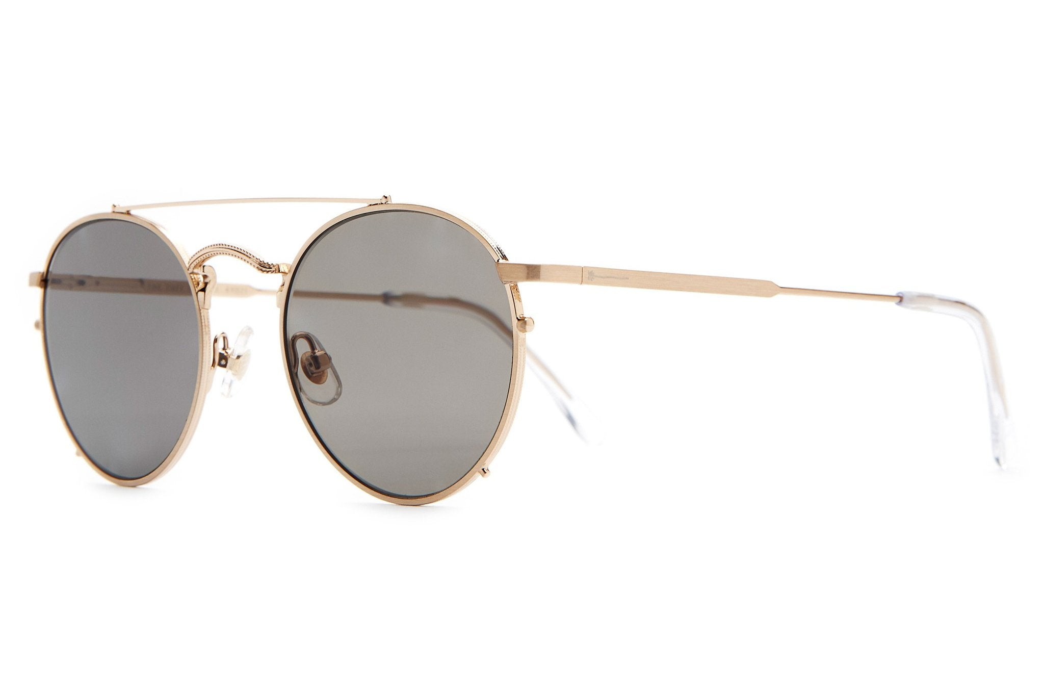 THE TUFF SAFARI / BRUSHED GOLD & GREY POLARISED LENS
