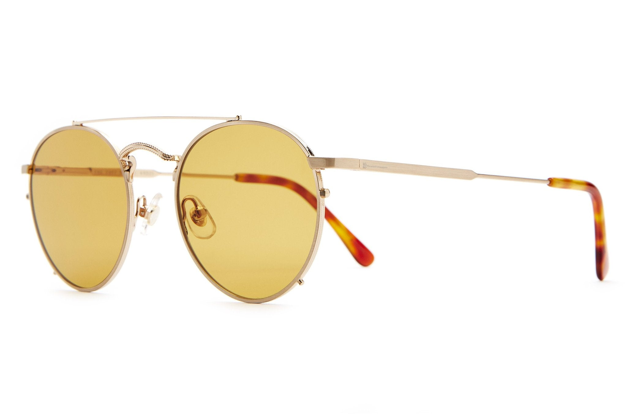 THE TUFF SAFARI / BRUSHED GOLD &  MUSTARD LENS