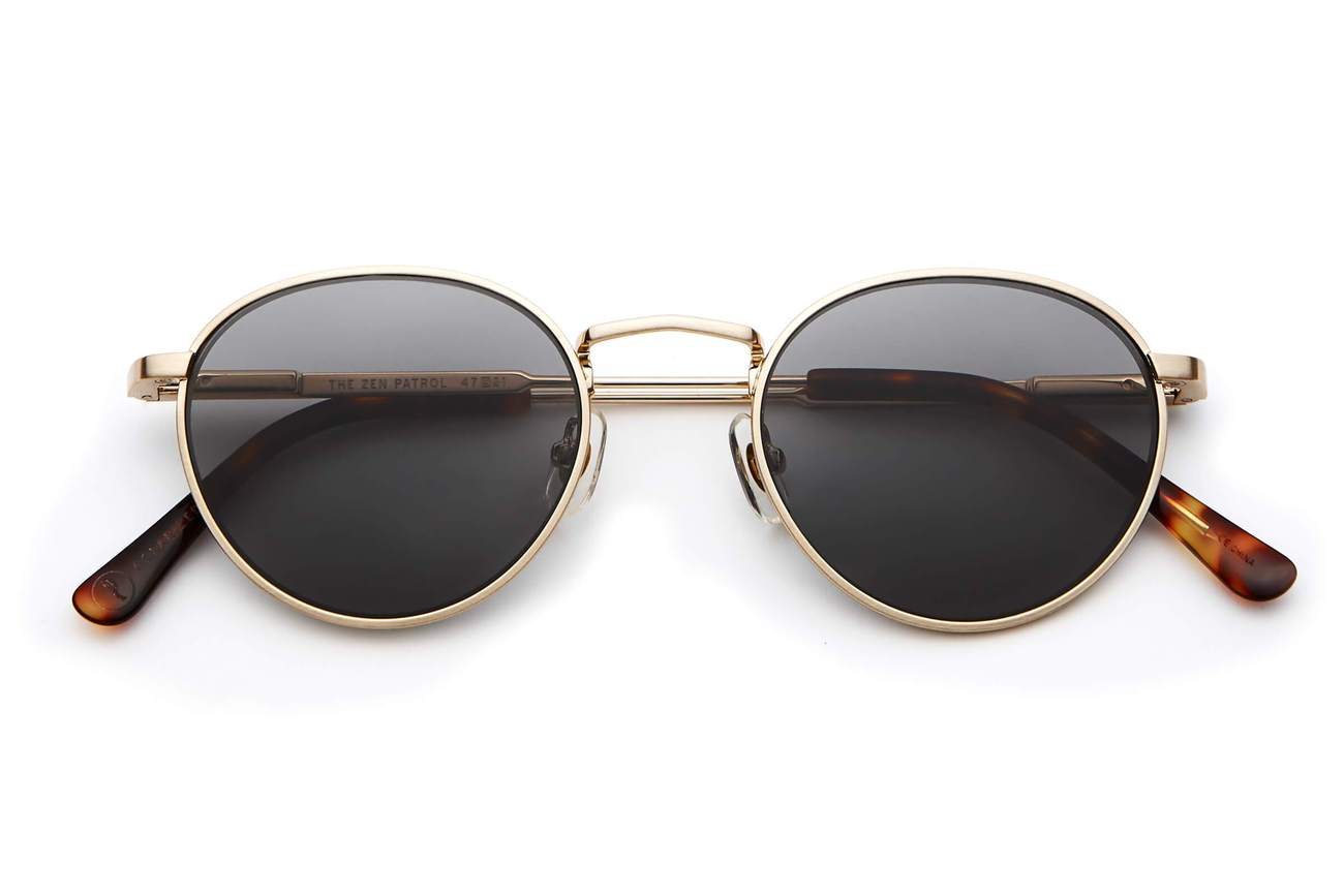 THE ZEN PATROL / BRUSHED GOLD & GREY POLARISED LENS