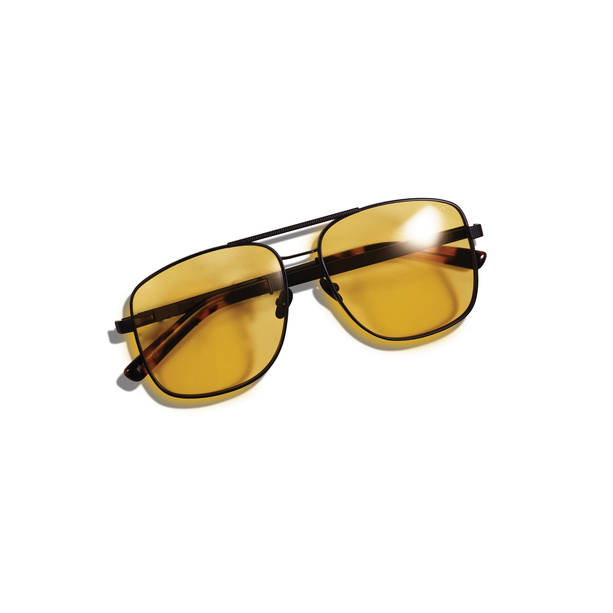 UPTOWN & DOWNTOWN / MATTE BLACK & SOLID YELLOW LENS