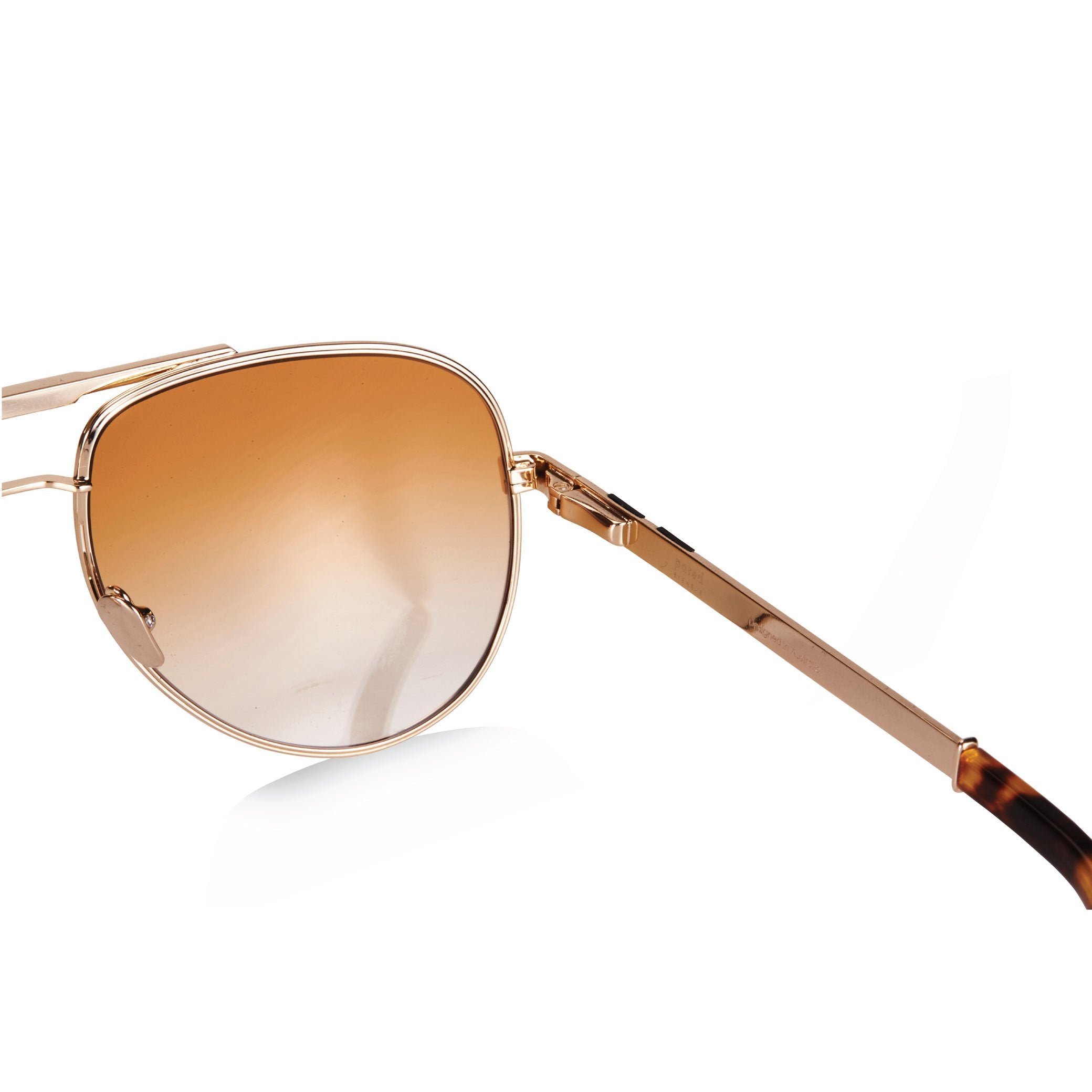 LOCK & LOAD / GOLD TORTOISE & TERRACOTTA GRADIENT LENS