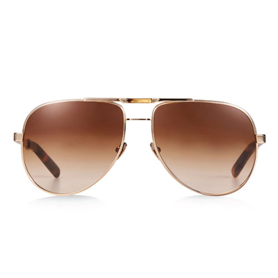 LOCK & LOAD / GOLD TORTOISE & TAN GRADIENT LENS