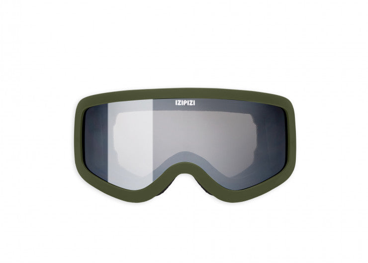 JUNIOR KIDS SKI SNOWBOARD GOGGLES / KHAKI GREEN