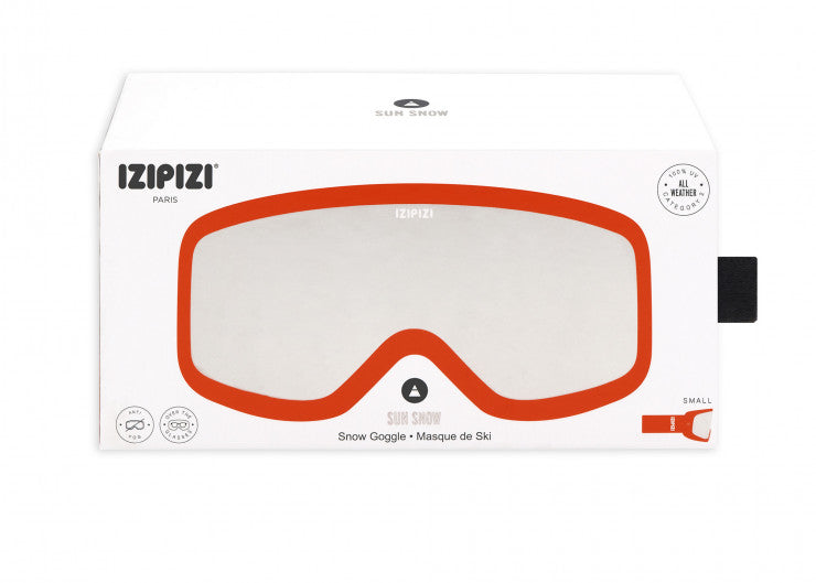SKI SNOWBOARD GOGGLES / LARGE / ORANGE