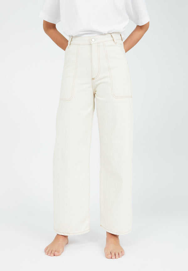 Cotton Jean Pants - Nessaa CR. Worker  - VEGAN- Undyed