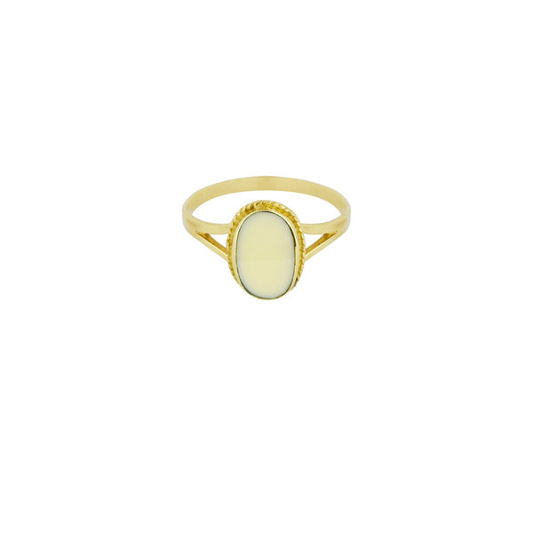 Oval Souvenir Ring Ivory