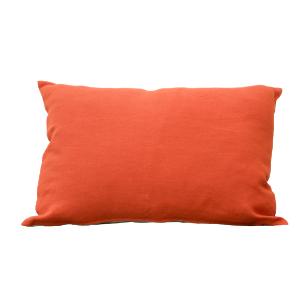 Pillow - Linnen Orange Natural 40x60 cm