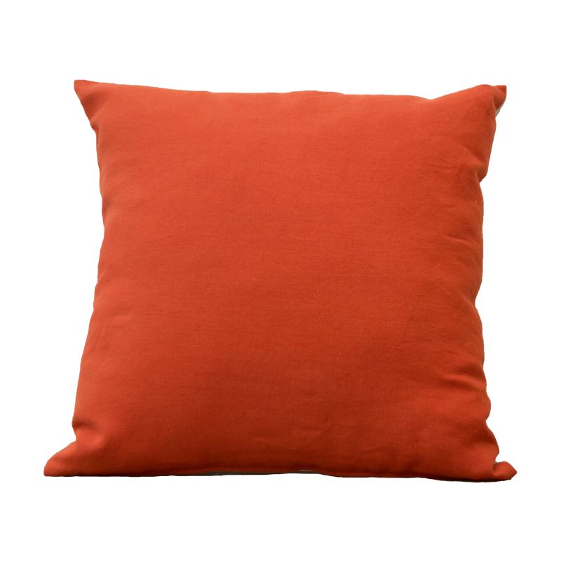 Pillow - Linnen Orange Natural White 45x45 cm