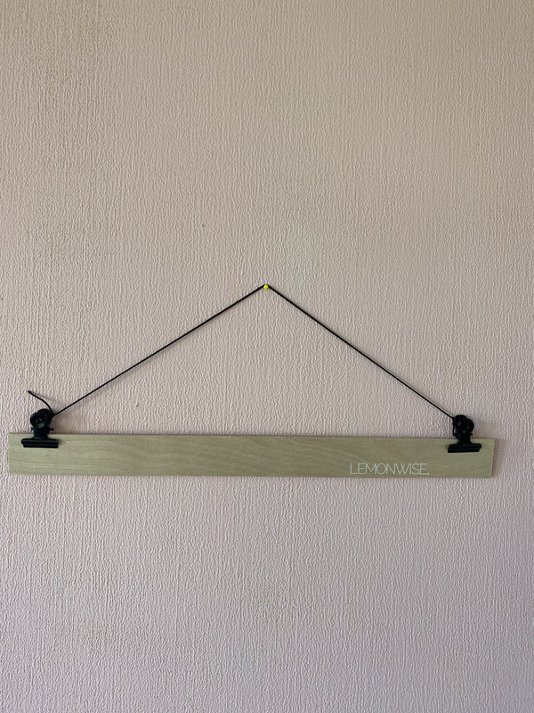 Wandhanger hout for Stitched Art - Black Metal