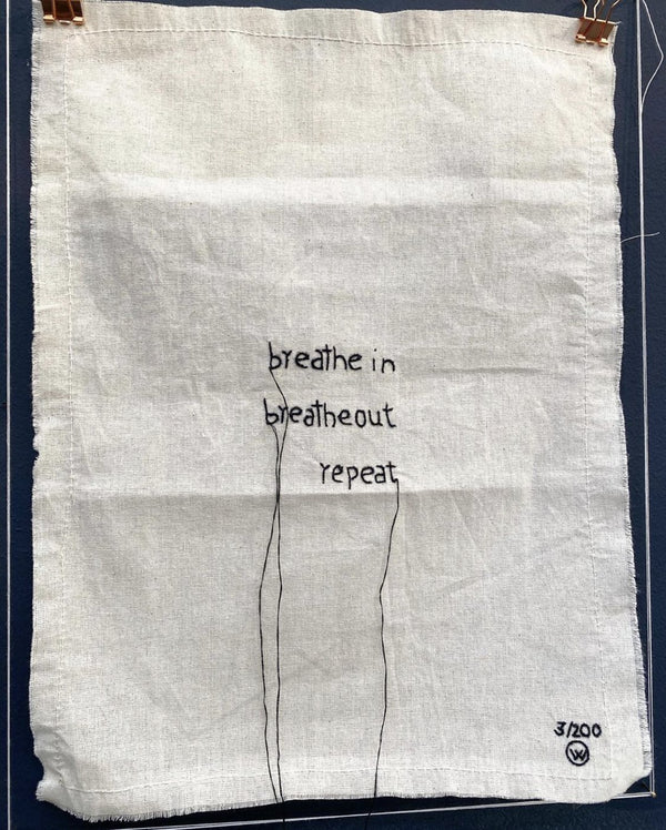 "Stitched Art ""Breath In Out "" Limited Edition"