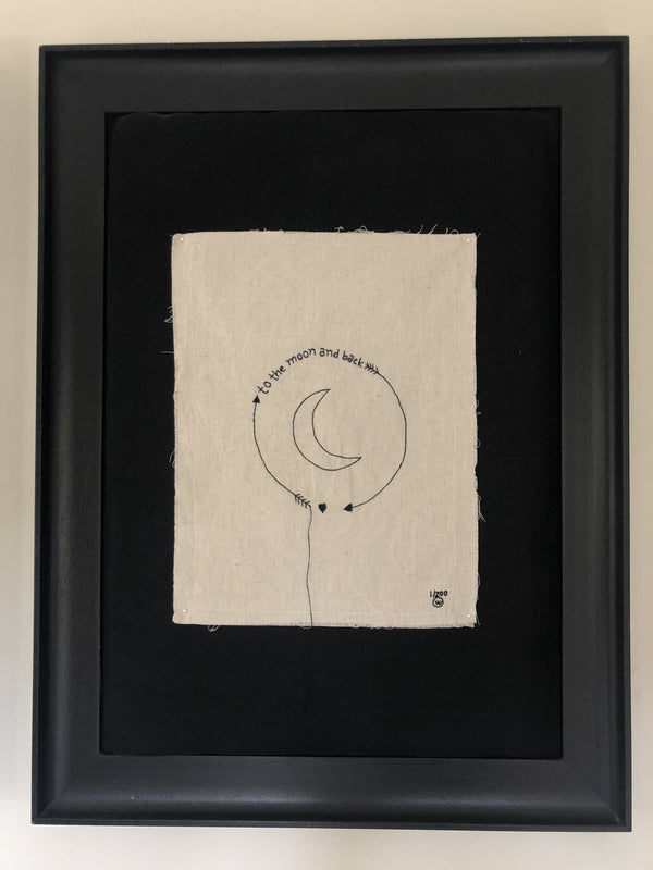 "Stitched Art ""To the Moon"" Limited Edition"