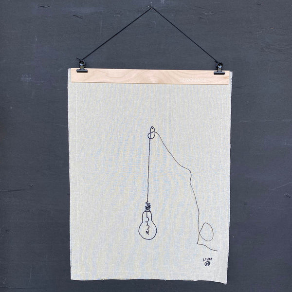 "Stitched Art ""Light Bulb"" Limited Edition"