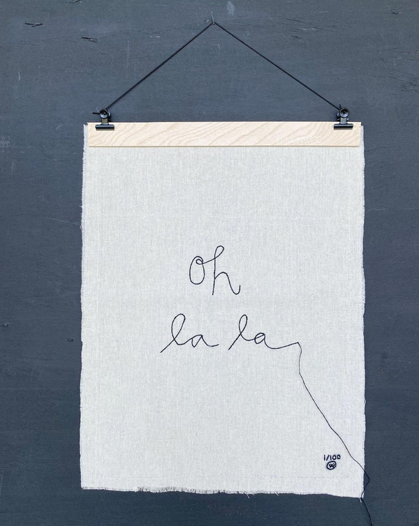 "Stitched Art ""Oh La La"" Limited Edition"