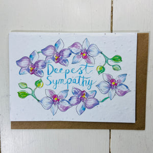 Plantable Card - Deepest Sympathy - Refill Mill