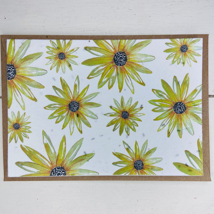 Plantable Card - Yellow Flowers - Refill Mill