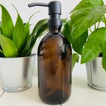 Load image into Gallery viewer, Amber Glass Bottle with Stainless Steel Pump - Refill Mill