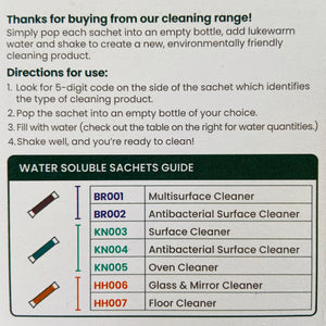 Antibacterial Cleaning Sachets - Floor Cleaner - Refill Mill