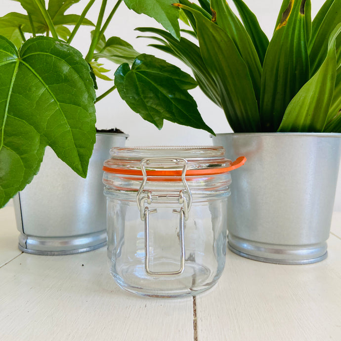 Glass Jar With Clip Top Lid - 200mL - Refill Mill