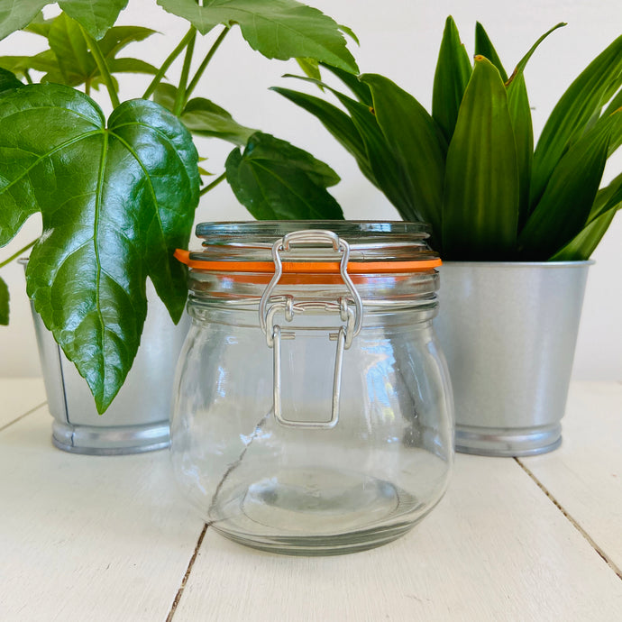 Glass Jar With Clip Top Lid - 500mL - Refill Mill