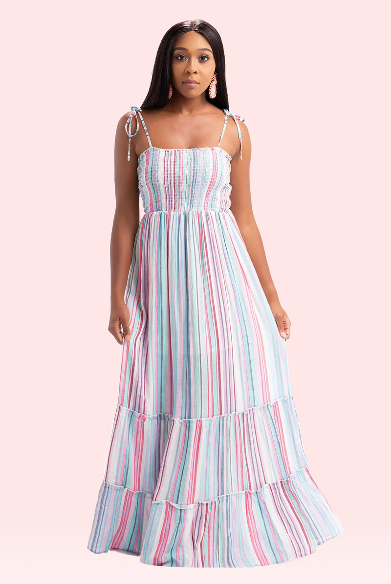 Striped Serene Maxi Dress
