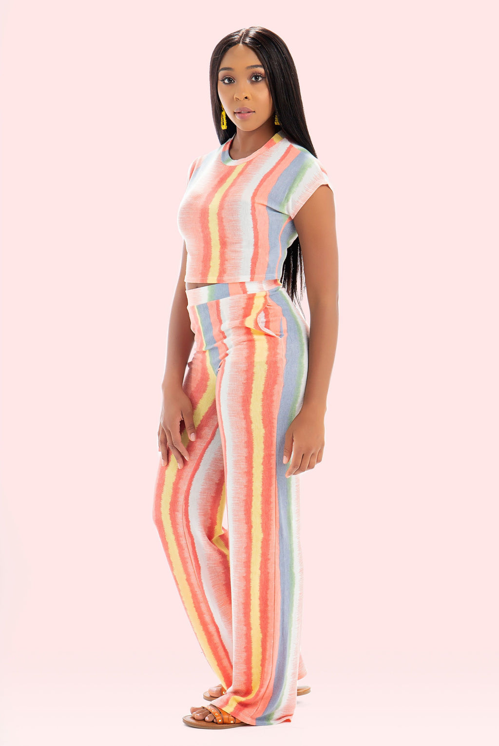 Candy Stripes Comfy Pant Set