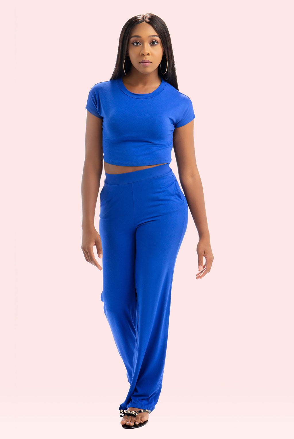 Comfy Royal High Waist Pant Set