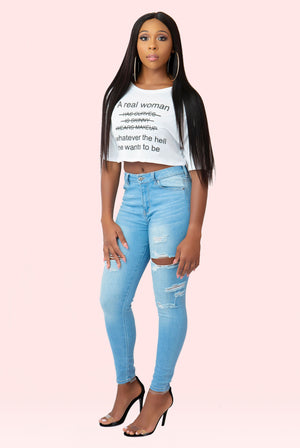 Real Woman Crop Top