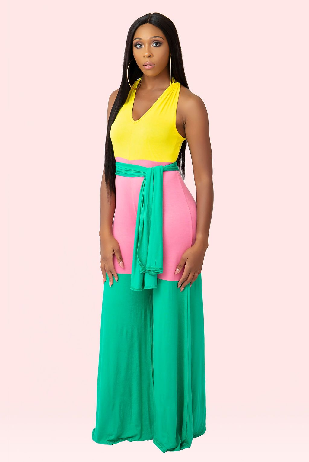 Monroe Color Block Jumpsuit