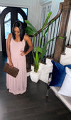 Vacay Babe Maxi Dress (Light Rose)