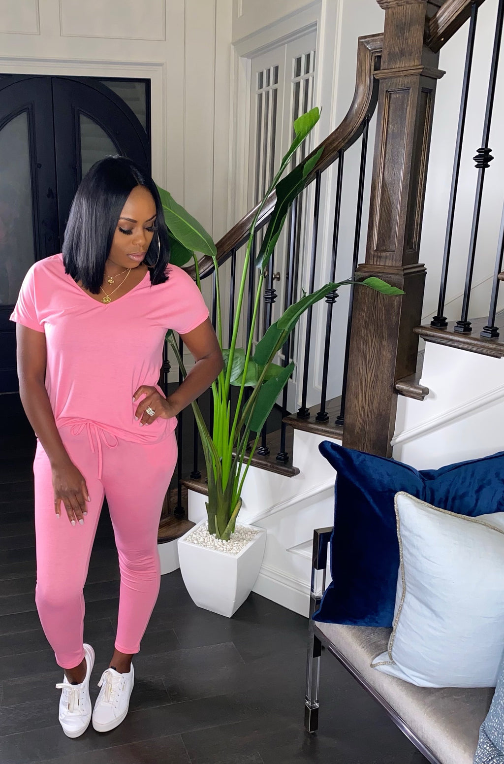 Cozy Loungewear Set (Pink)