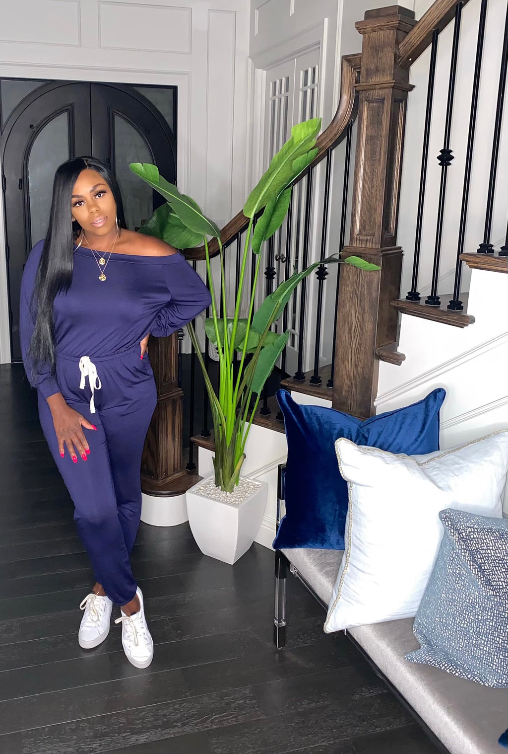 The New Cozy Jumpsuit (Navy)