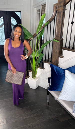 """Everything To Me"" Maxi Dress (Purple)"