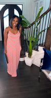 Forever Striped Maxi Dress (Coral)