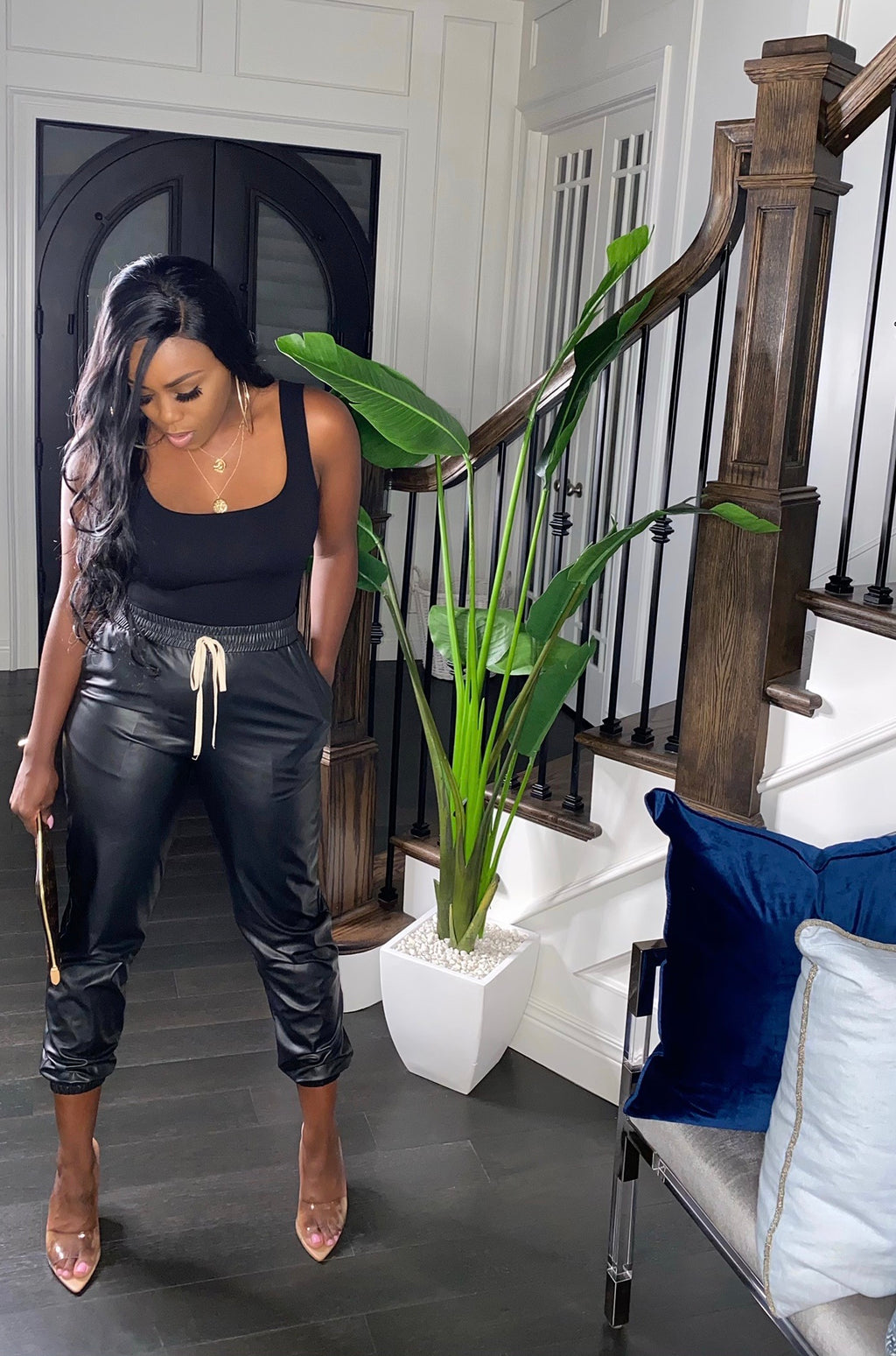 Dreamgirl Faux Leather Joggers