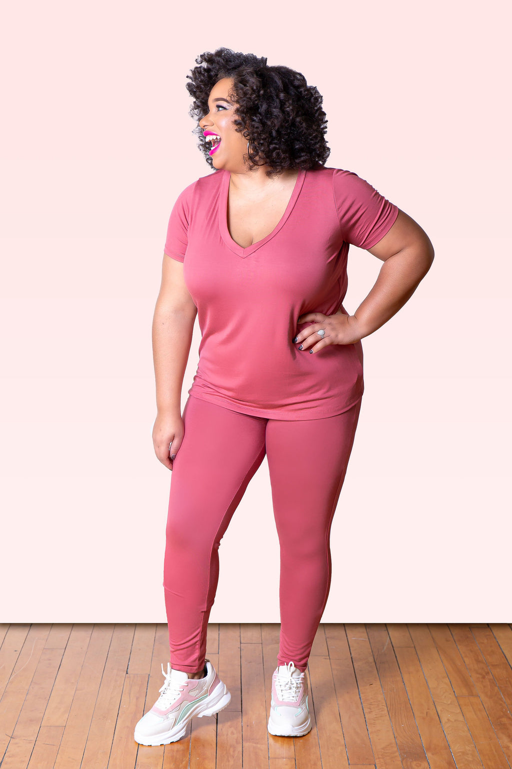 "The Basic Pant Set ""Pink"" (Plus)"