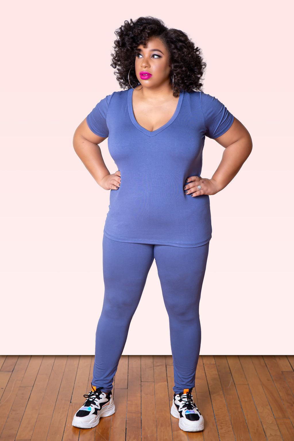 "The Basic Pant Set ""Blue"" (Plus)"