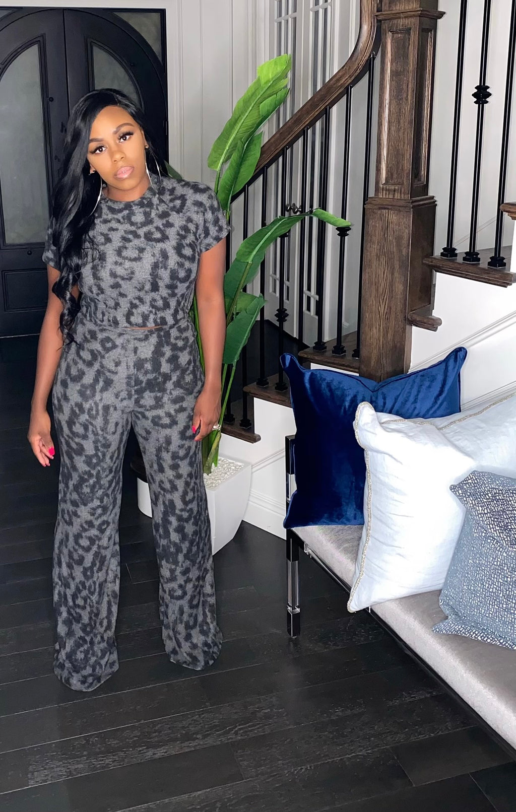 Black Leopard 2-Piece Set