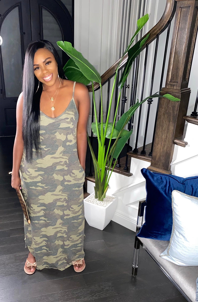 Camo Casual Maxi (Plus Size)