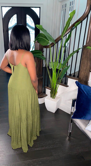 Vacay Babe Maxi Dress (Olive)
