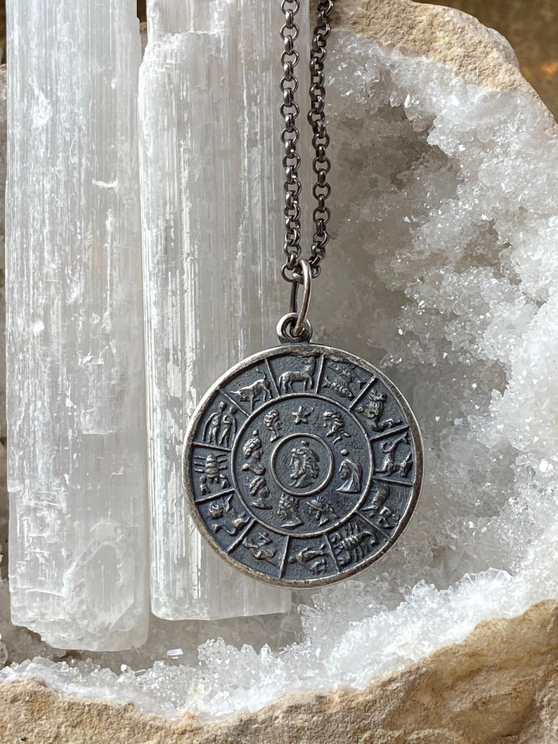 Zodiac Sign Wheel Necklace