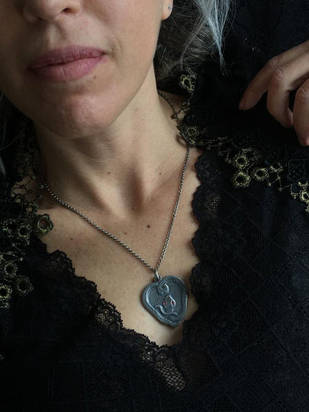 Coiled Serpent Talisman Necklace - ShopSacredBarcelona