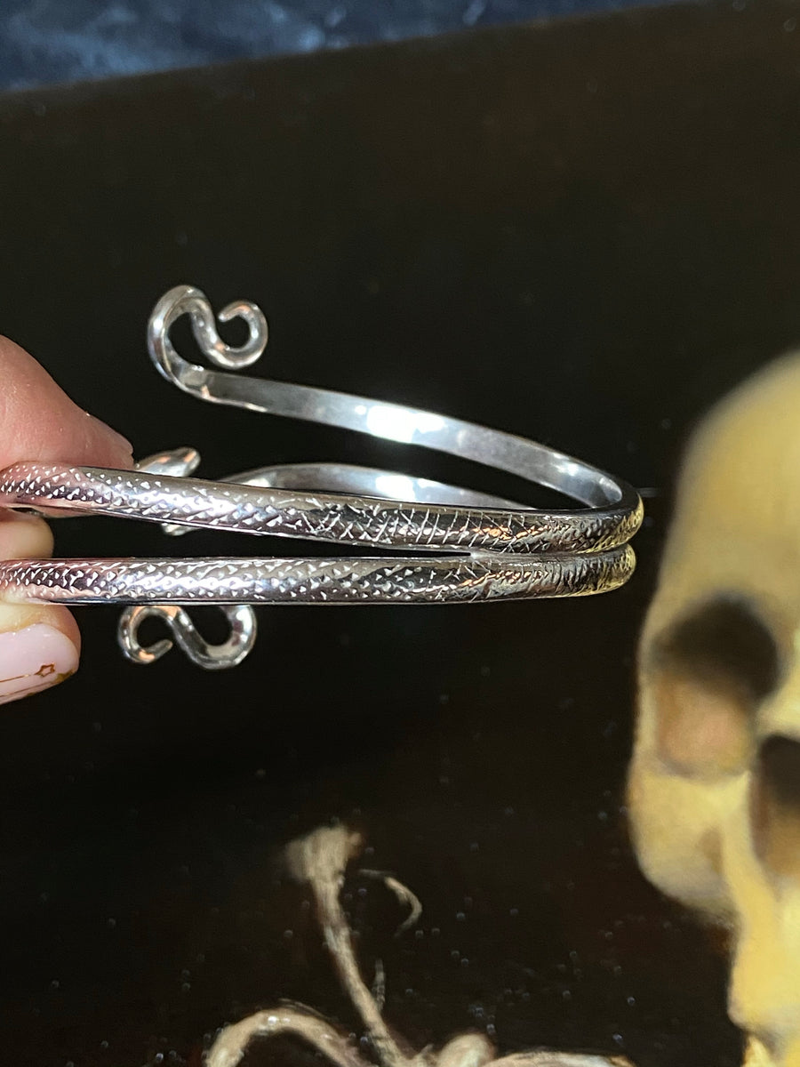 Double Coiled Snake Bangle - ShopSacredBarcelona