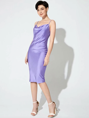 purple satin slip on dress trends scarlt.com 2021