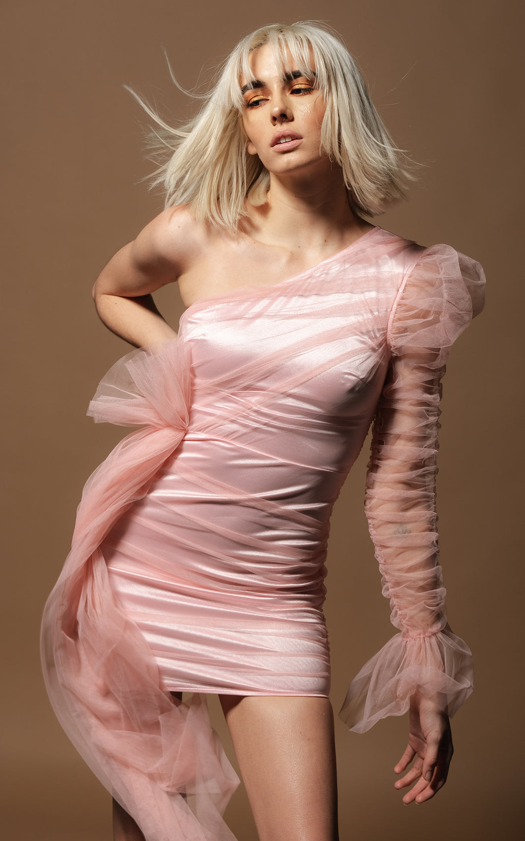 Rosabell Pink Amo Couture Mini Dress