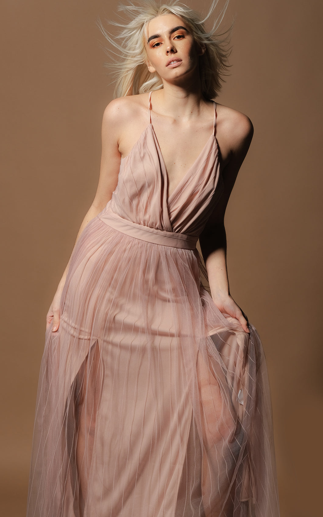 Arabella Amo Couture Pink Dress