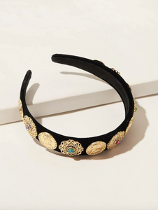 Gold Hollow Out Flower Headband