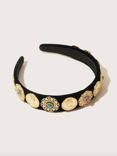 Load image into Gallery viewer, Gold Hollow Out Flower Headband